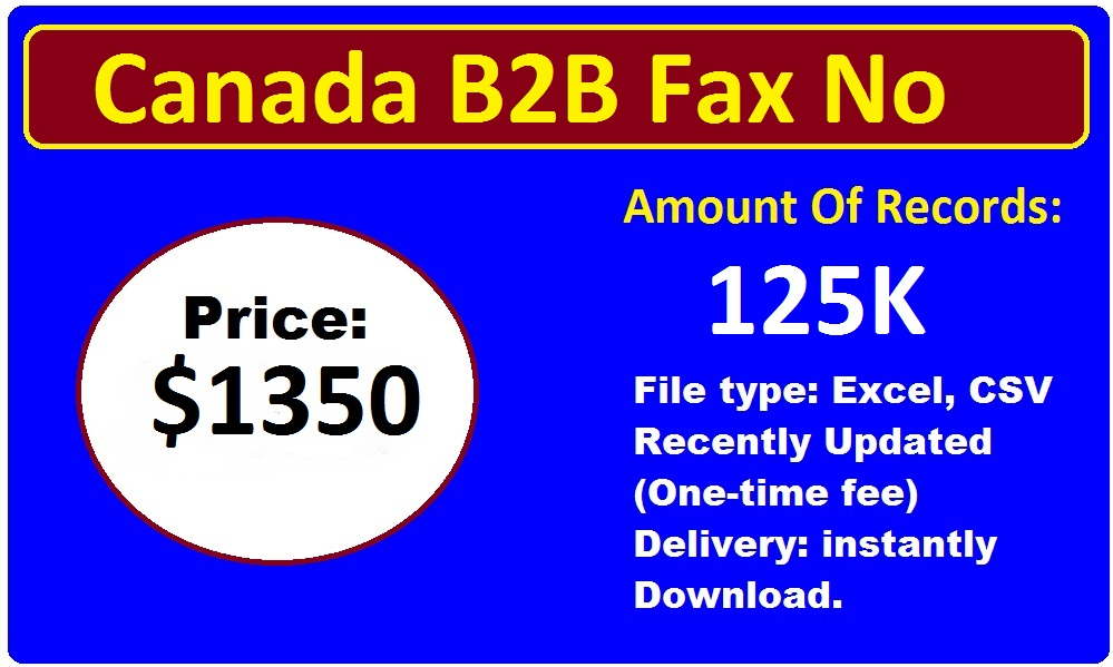 Canada Business Fax List