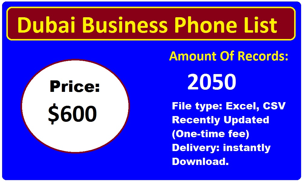Dubai Business Phone List