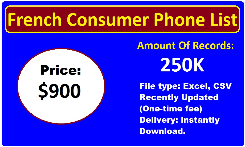 French Consumer Phone List