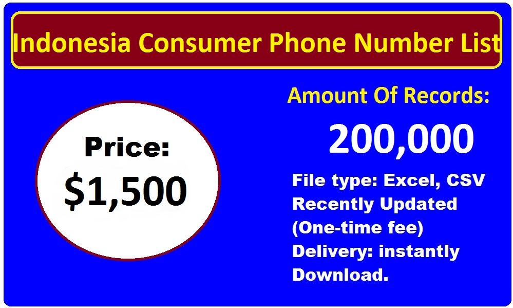 Indonesia Phone Number List