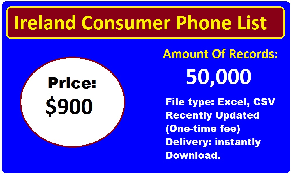 Ireland Consumer Phone List