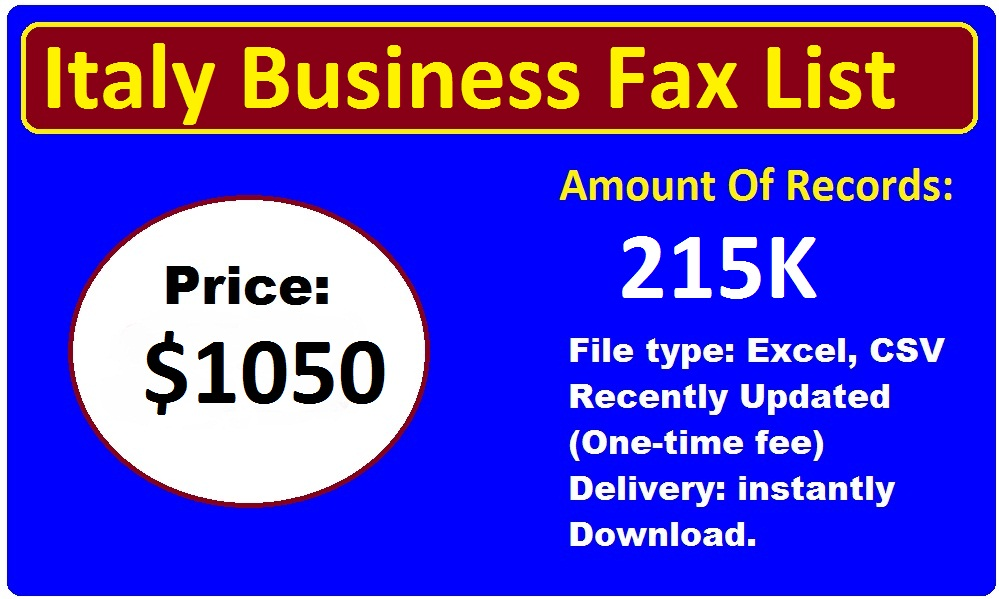 Italy Business Fax List