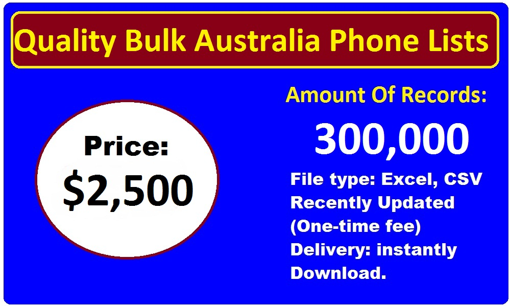 Quality Bulk Australia Phone Lists