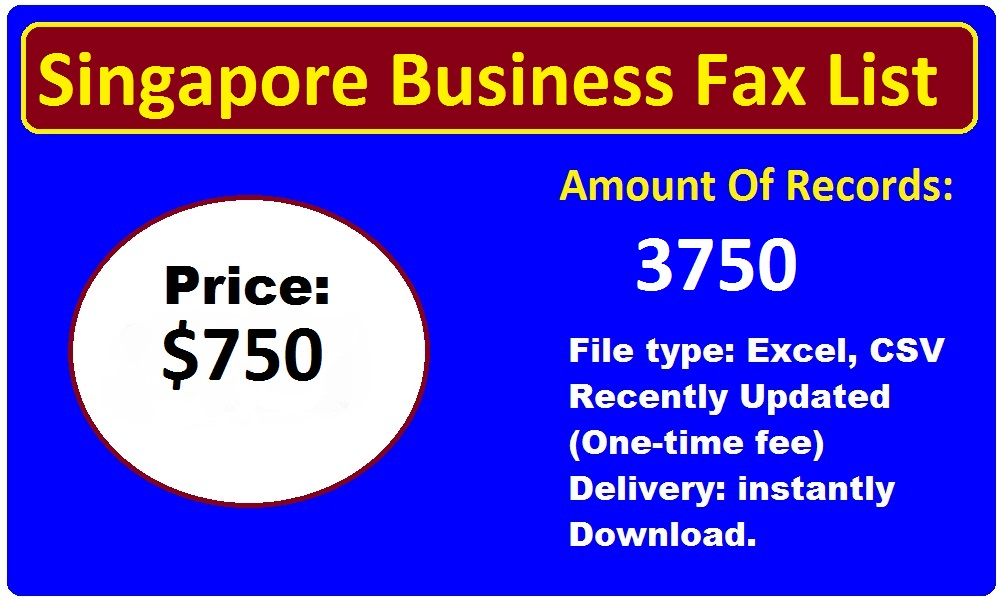 Singapore Business Fax List