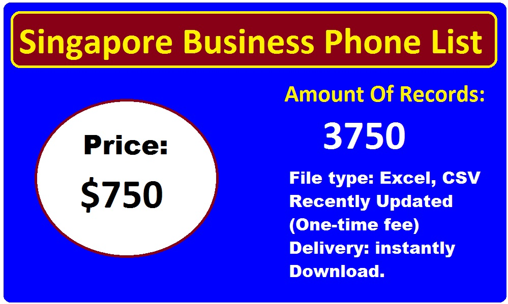 Singapore Business Phone List