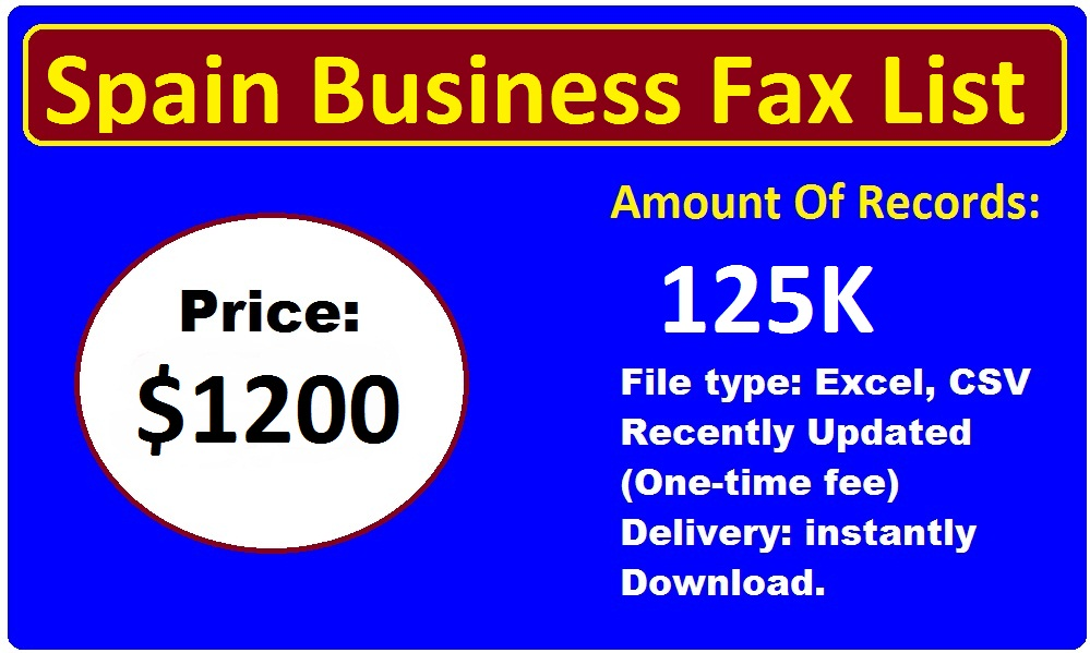 Spain Business Fax List