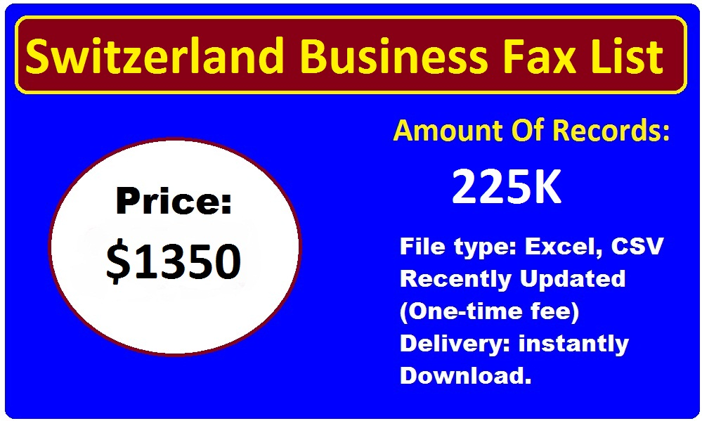 Switzerland Business Fax List-