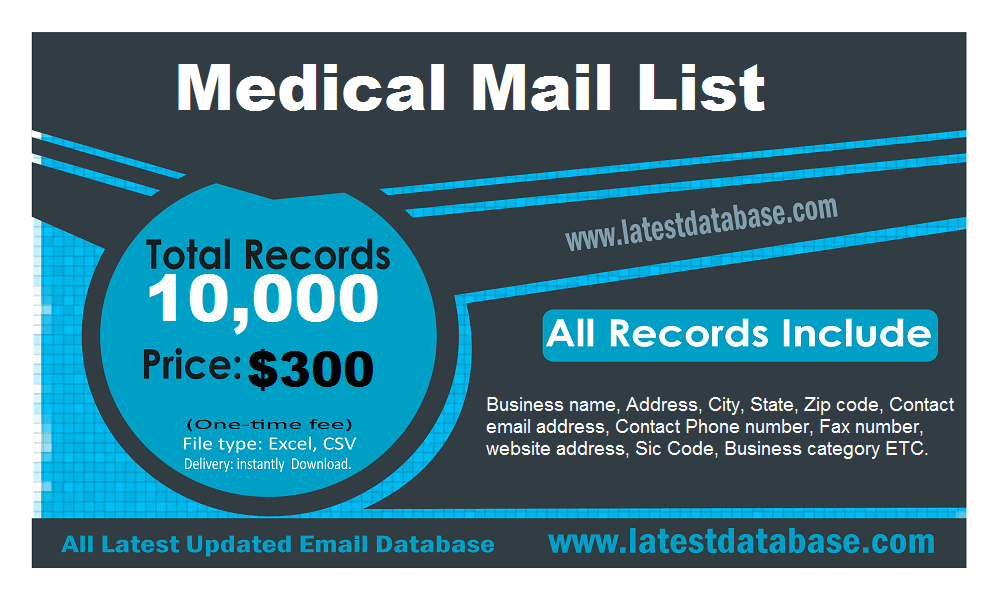 Medical Mail List