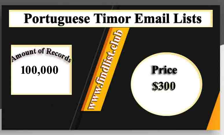 Portuguese Timor Email Lists