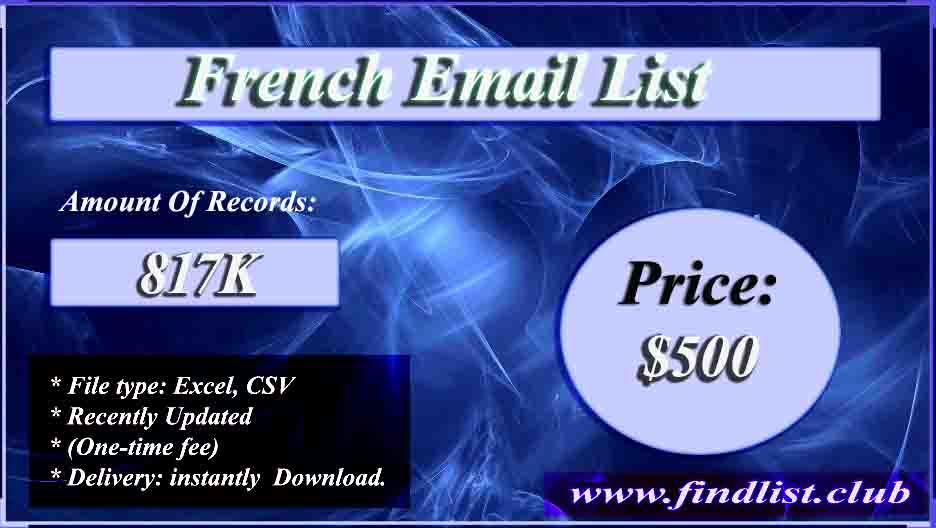 French Email List