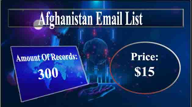 Afghanistan Email List